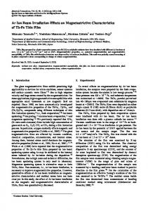 Ar Ion Beam Irradiation Effects on Magnetostrictive Characteristics of ...