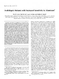 Arabidopsis mutants with increased sensitivity to aluminum.