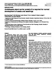 Arabidopsis sterol carrier protein-2 is required for
