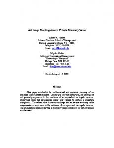 Arbitrage, Martingales and Private Monetary Value - CiteSeerX