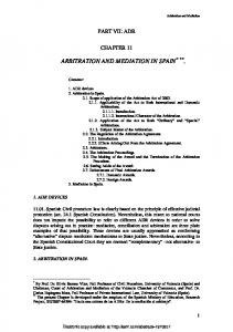 arbitration and mediation in spain - SSRN papers