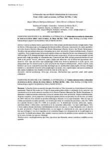 Arbuscular mycorrhizal colonization in Asteraceae from white sand ...