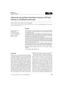 Arbuscular mycorrhizal colonization increases with host density in a ...