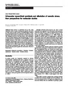 Arbuscular mycorrhizal symbiosis and alleviation of ... - Springer Link
