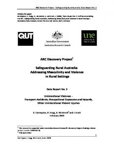 ARC Discovery Project Safeguarding Rural Australia - QUT ePrints