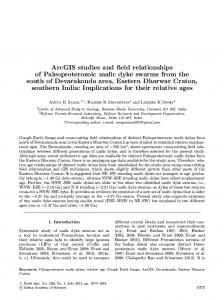 ArcGIS studies and field relationships of Paleoproterozoic mafic dyke ...