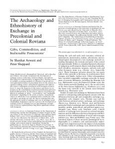 Archaeology, ethnohistory and exchange in Roviana - of ...