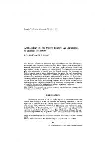 Archaeology in the Pacific Islands: An appraisal of ... - Springer Link