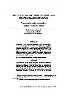 ARCHAEOLOGY, MATERIAL CULTURE, AND SOCIAL INCLUSION ...
