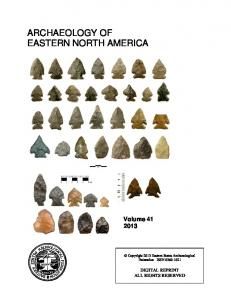 archaeology of eastern north america
