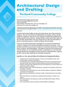 architectural design and drafting - Portland Community College