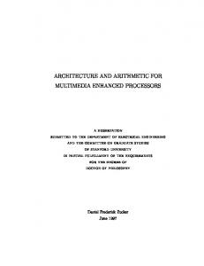 architecture and arithmetic for multimedia enhanced ... - CiteSeerX