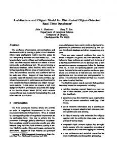 Architecture and Object Model for Distributed ... - Semantic Scholar