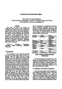 Architecture as Information Space - angram