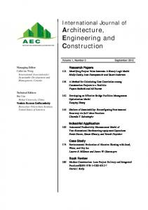Architecture, Engineering and Construction - IASDM