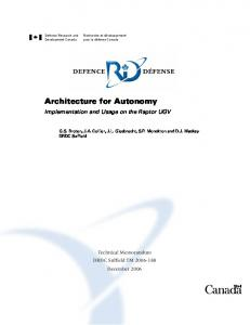 Architecture for Autonomy - CiteSeerX