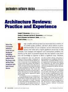 Architecture Reviews: Practice and Experience postmodern software ...