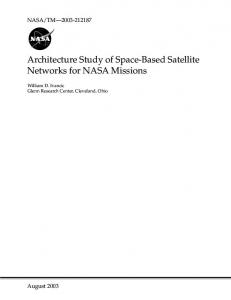 Architecture Study of Space-Based Satellite Networks for NASA Missions