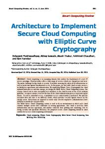 Architecture to Implement Secure Cloud Computing with Elliptic Curve ...