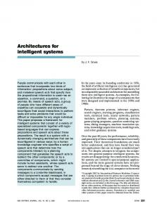 Architectures for intelligent systems - John F. Sowa