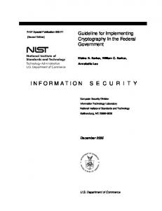 Archived NIST Technical Series Publication - NIST Page - National ...