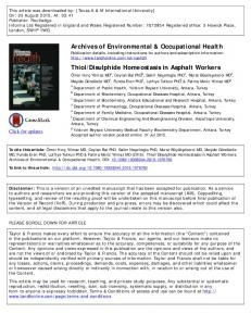 Archives of Environmental & Occupational Health ...