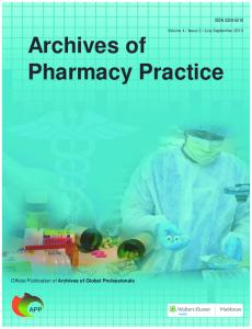 Archives of Pharmacy Practice