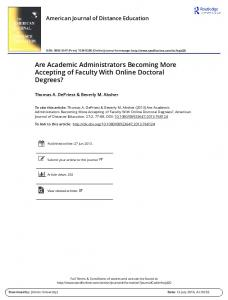 Are Academic Administrators Becoming More ...