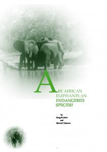 are african elephants an endangered species?