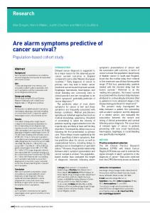 Are alarm symptoms predictive of cancer survival? - Semantic Scholar