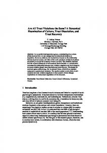 Are All Trust Violations the Same? A Dynamical ... - Semantic Scholar