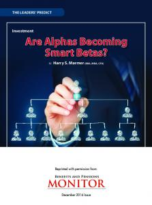 Are Alphas Becoming Smart Betas? - Hillsdale Investment ...