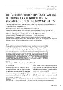 are cardiorespiratory fitness and walking performance associated with ...