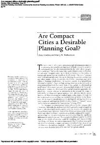 Are compact cities a desirable planning goal?