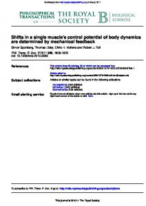 are determined by mechanical feedback Shifts in a ... - Semantic Scholar