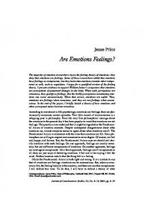 Are Emotions Feelings?