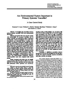 Are environmental factors important in primary ... - Wiley Online Library