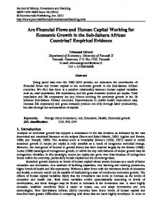 Are Financial Flows and Human Capital Working for ...