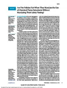 Are Fire Policies Fair When They Mandate the Use of ...