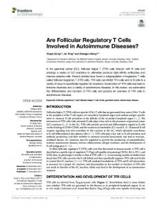 Are Follicular Regulatory T Cells Involved in ... - Semantic Scholar