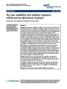 Are gait variability and stability measures influenced by ... - Springer Link
