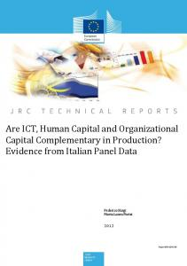 Are ICT, Human Capital and Organizational Capital Complementary in ...