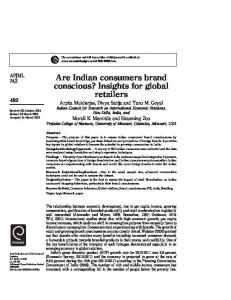 Are Indian consumers brand conscious? - Trulaske College of Business