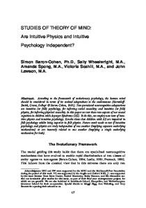 Are intuitive physics and intuitive psychology independent?