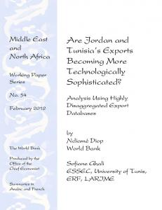 Are Jordan and Tunisia's Exports Becoming More ... - World Bank Group