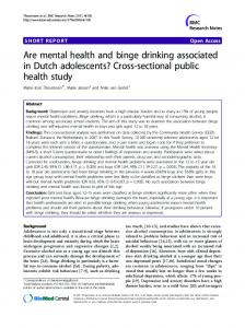 Are mental health and binge drinking associated in ... - Springer Link