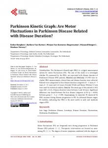 Are Motor Fluctuations in Parkinson Disease Related with Disease ...