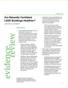 Are Naturally Ventilated LEED Buildings Healthier? - NCCEH