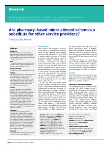 Are pharmacy-based minor ailment schemes a substitute for other ...