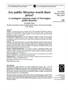 Are public libraries worth their price?